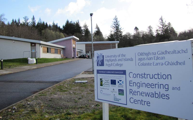 Construction Skills College Lochgilphead, education project