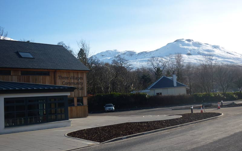 Three Villages Hall Arrochar community project