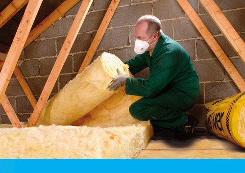 Loft insulation saving energy