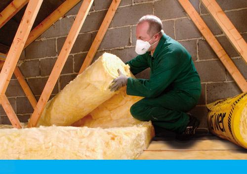 Loft insulation saving energy