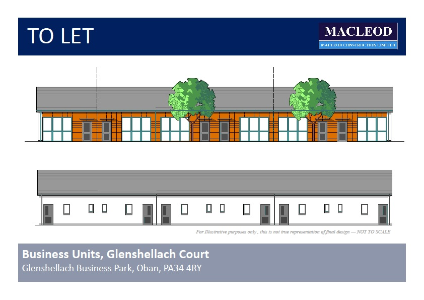 Units for rent in Oban, Glenshellach Business Park